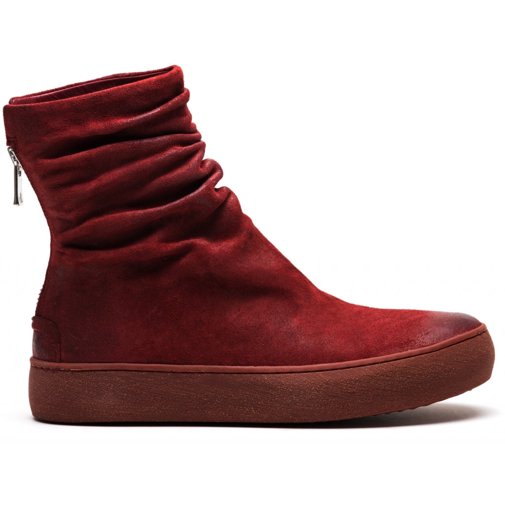 the last conspiracy FARA waxed suede High Top Sneaker 348 Oxblood/buffed sole