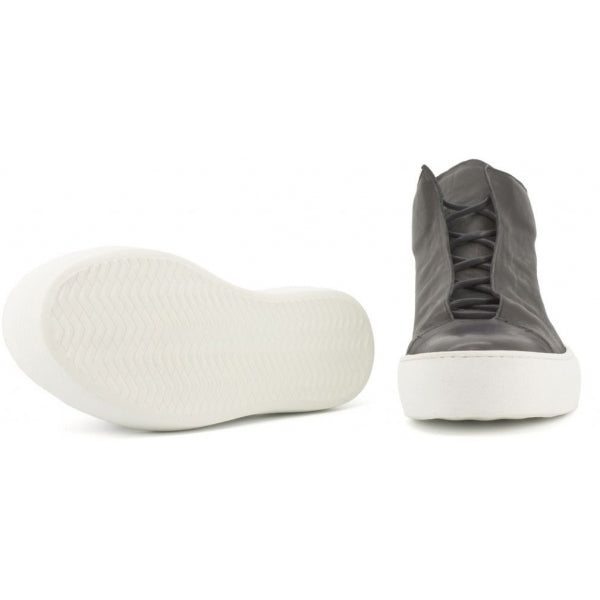 the last conspiracy RENATO soft High Top Sneaker 401 Black/white sole/buffed sole