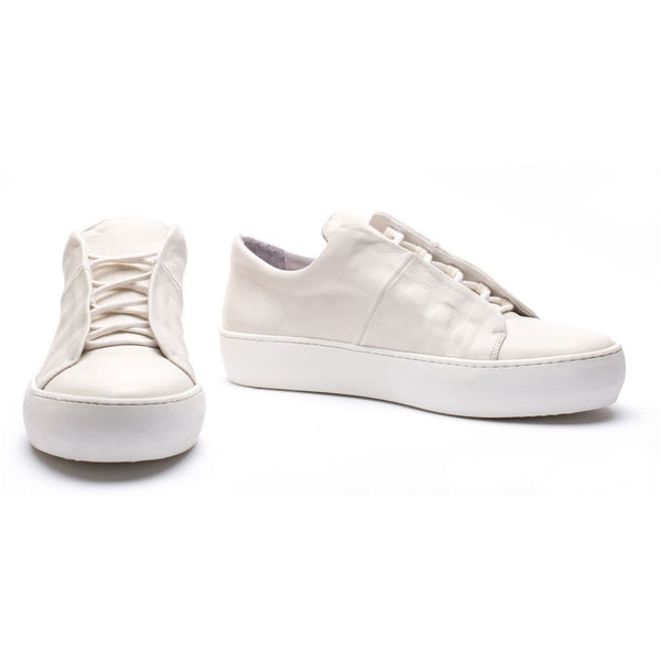 the last conspiracy TROY re waxed Laced Shoe 336 White/buffed sole