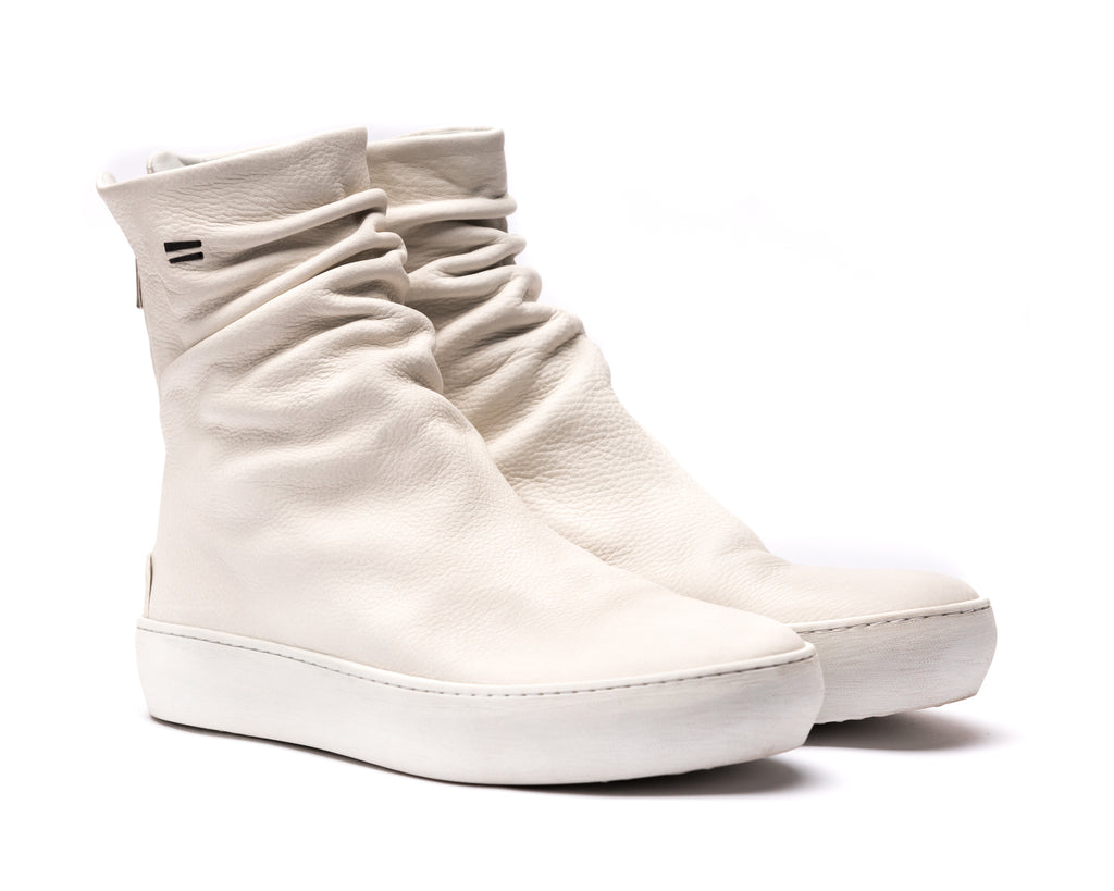 the last conspiracy FARA High Top Sneaker 336 White/buffed sole