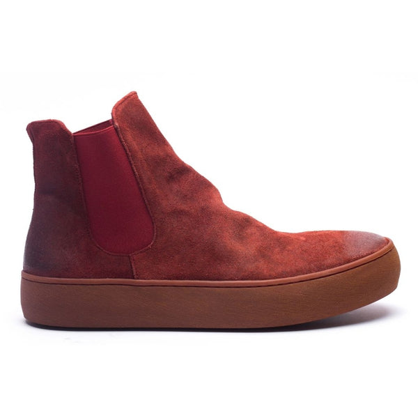 the last conspiracy BIA waxed suede High Top Sneaker 348 Oxblood/buffed sole