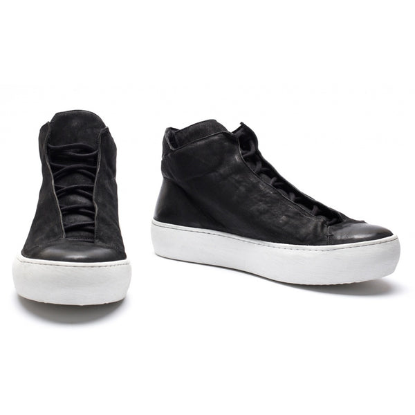 the last conspiracy RENATO mat High Top Sneaker 401 Black/white sole/buffed sole