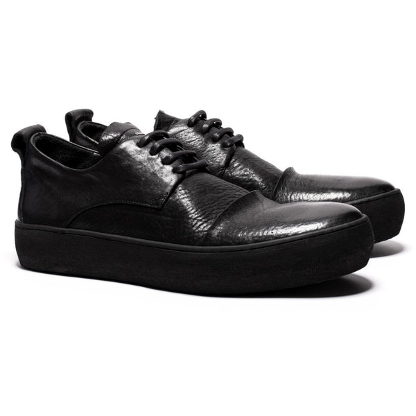 the last conspiracy YASIN re waxed Laced Shoe 301 Black/buffed sole