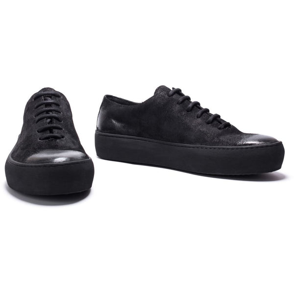 the last conspiracy ADAMO waxed suede High Top 301 Black/buffed sole