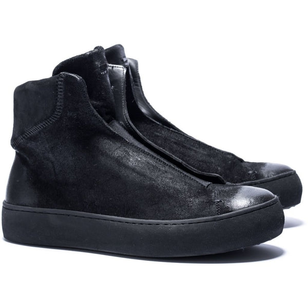 the last conspiracy WALTINE waxed suede High Top 301 Black/buffed sole