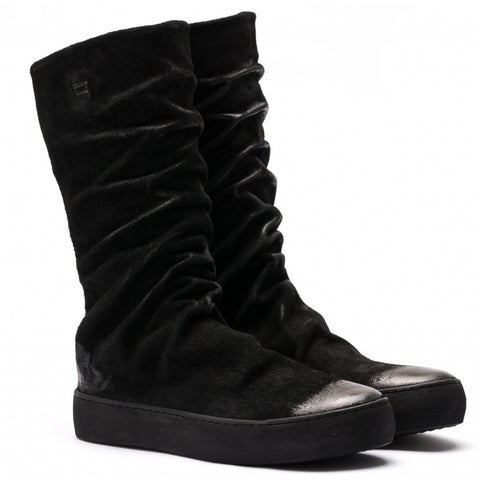 the last conspiracy ESTELA waxed suede High Top Sneaker 301 Black/buffed sole