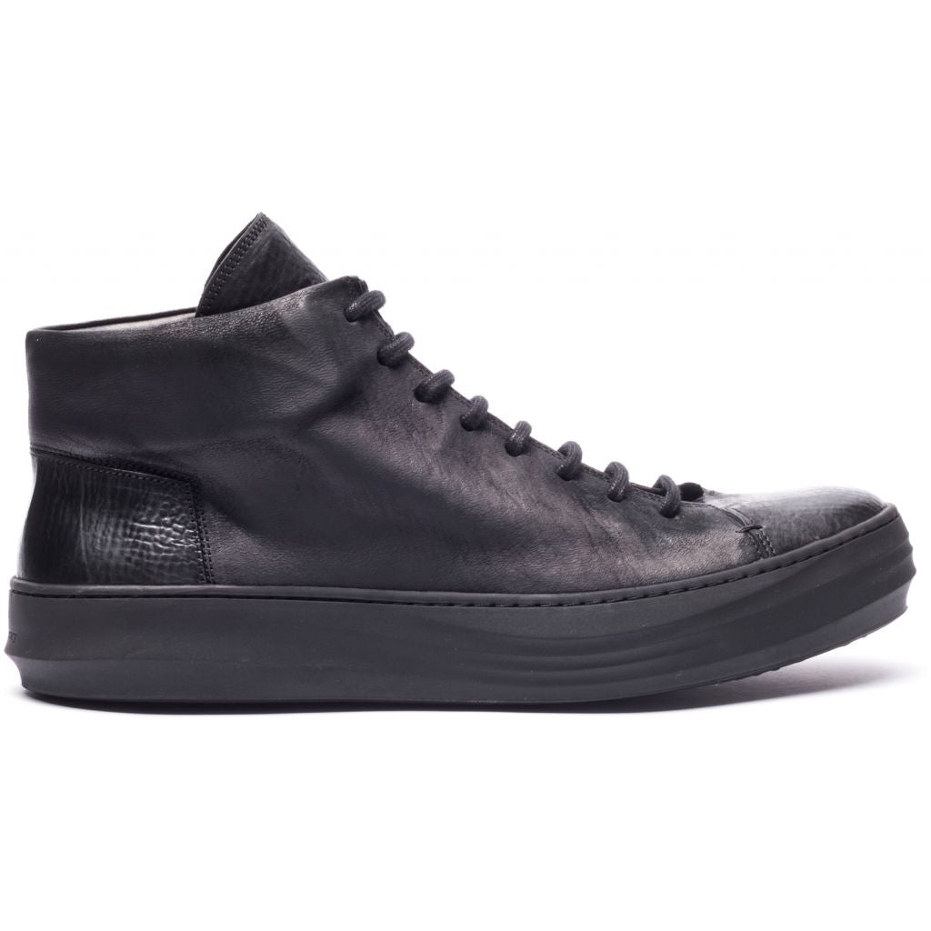 the last conspiracy RIKE mat/reversed High Top Sneaker 001 Black