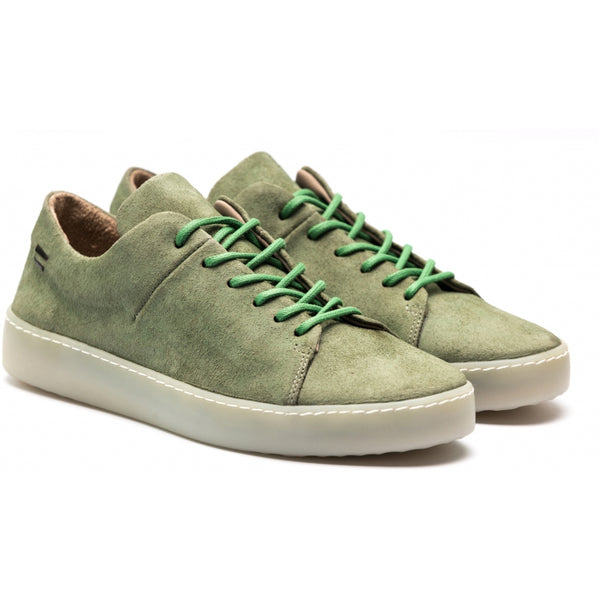 the last conspiracy KADEN waxed suede Low Top Sneaker 785 Mint/transparent