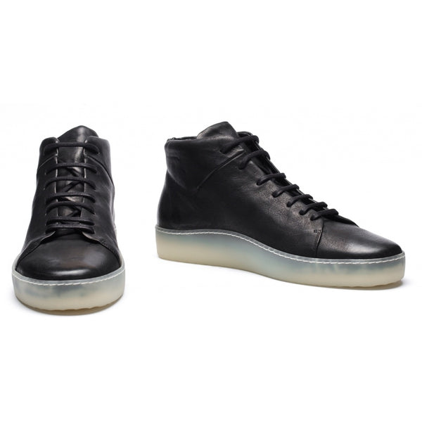 the last conspiracy CARSON steer High Top Sneaker 701 Black/transparent sole