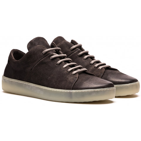 the last conspiracy KADEN waxed suede Low Top Sneaker 780 Mouse/transparent sole