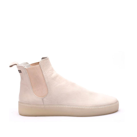 the last conspiracy AHOTE re waxed Chelsea Boot 736 White/transparent sole