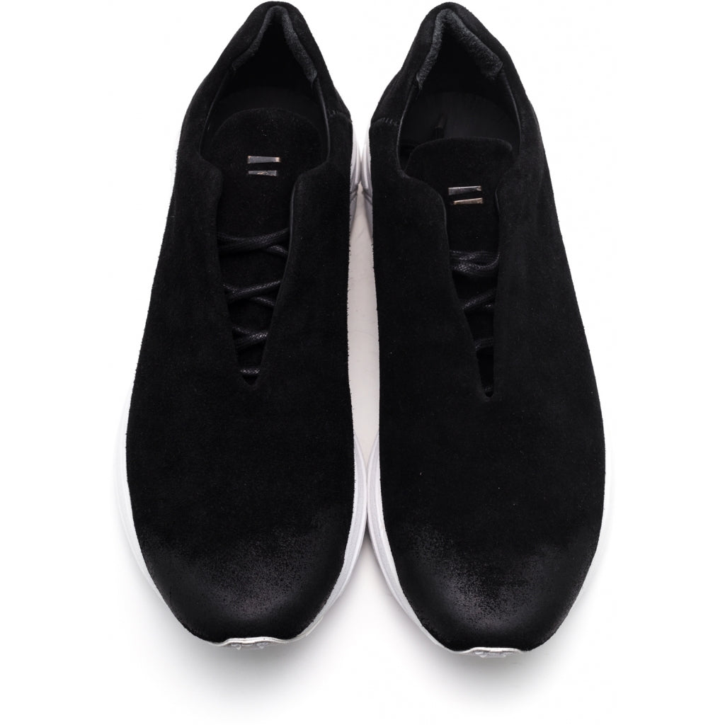 the last conspiracy CALEB suede Low Top Sneaker 201 Black/white sole