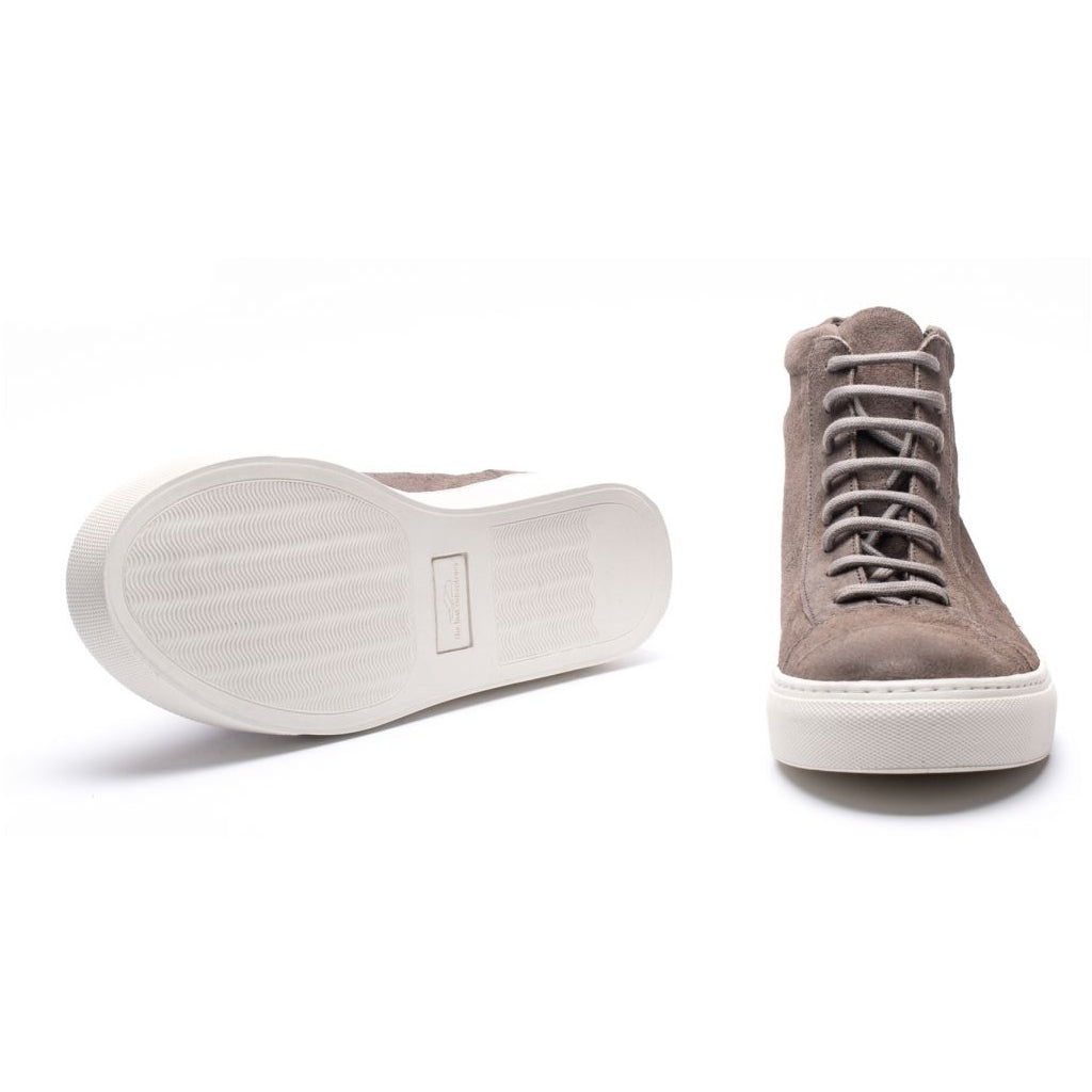 the last conspiracy JORGE waxed suede High Top 252 Dark Grey/white sole