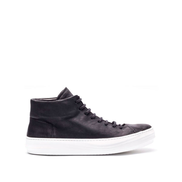 the last conspiracy RIKE mat High Top Sneaker 201 Black/white sole