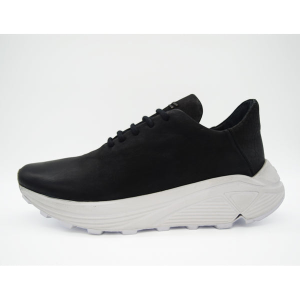 the last conspiracy ANZU mat / reversed Low Top Sneaker 201 Black/white sole