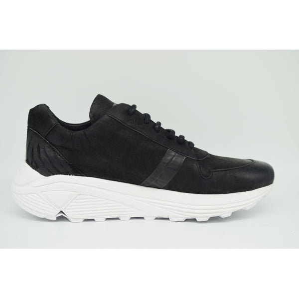 the last conspiracy KANG mat / reversed Low Top Sneaker 201 Black/white sole