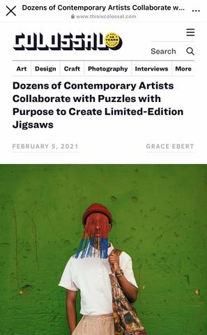 Dozens of Contemporary Artists Collaborate with Puzzles with Purpose to Create Limited- Edition Jigsaws by Grace Ebert | THIS IS COLOSSAL February 2021