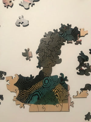 Artist Jonah Freeman and Justin Lowe Puzzle