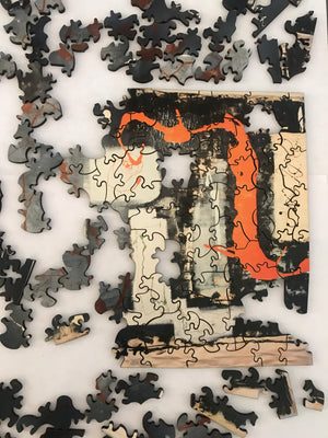 Artist Billy Zane Wooden Victorian-Cut Jigsaw Puzzle