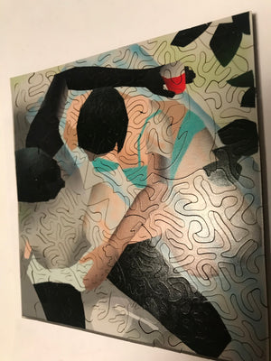 Artist Brandon Lipchik Collector Edition AI Wooden Jigsaw Puzzle
