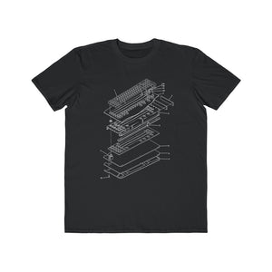 A Vintage Keyboard Diagram Tee
