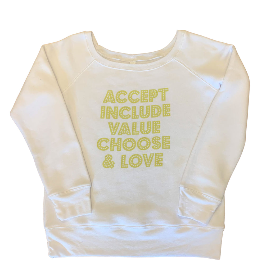 VALUES SWEATSHIRT