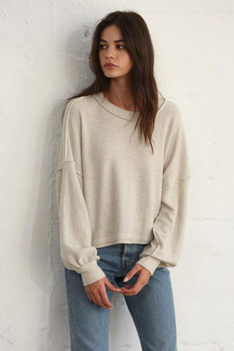 Alex Relaxed Knit Oversized Top - Modern Romance Boutique