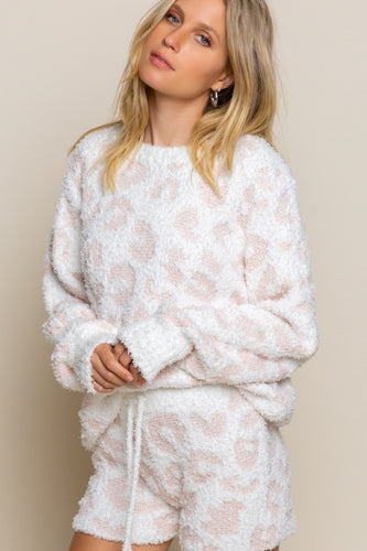 Cheetah Print Fuzzy Pullover - Modern Romance Boutique