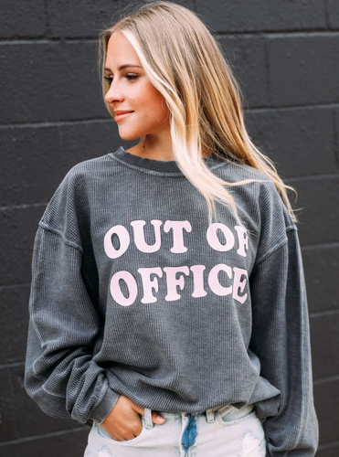 Friday X Saturday Out of Office Corded Sweatshirt