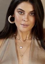 Load image into Gallery viewer, Modern Romance Boutique - Callie Pearl Hoops  Edit alt text