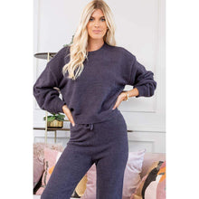 Load image into Gallery viewer, Cozy Soft Charcoal Knit Pullover