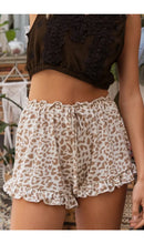 Load image into Gallery viewer, Cheetah Ruffle Shorts