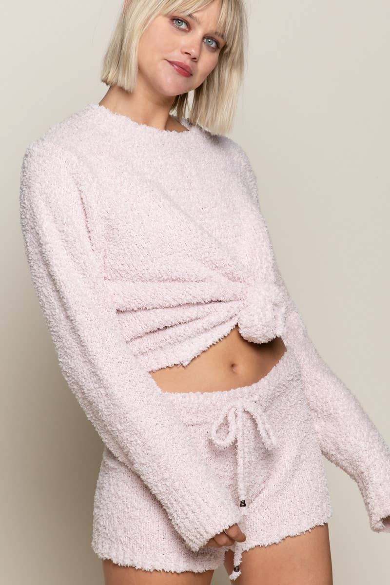Pink Long Sleeve Lounge Sweatshirt