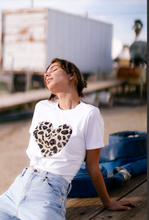 Load image into Gallery viewer, Leopard Heart Print Tee