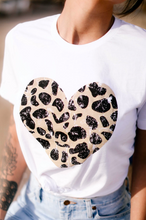 Load image into Gallery viewer, Leopard Heart T-Shirt
