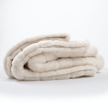 Load image into Gallery viewer, White Channel Faux Fur Throw