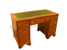 Load image into Gallery viewer, YEW Traditional English Antique Reproduction EXECUTIVE Desk