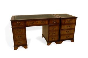 OAK Traditional English Antique Reproduction EXECUTIVE Desk