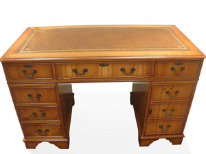 YEW Traditional English Antique Reproduction EXECUTIVE Desk