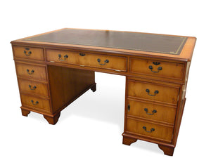 YEW Traditional English Antique Reproduction COMPUTER Desk