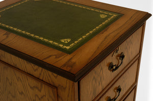 OAK Traditional English Antique Reproduction Filing Cabinet