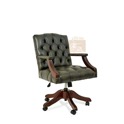 Traditional English Antique Reproduction Executive Gainsborough  Office Chair