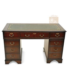 Load image into Gallery viewer, MAHOGANY Traditional English Antique Reproduction EXECUTIVE Desk