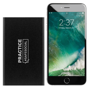 """Practice #SafeSocial"" Portable Charger"