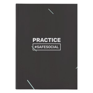 """Practice #SafeSocial"" Hardcover Journal"