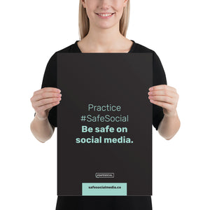 5 Steps Towards #SafeSocial 6-Part Poster Series