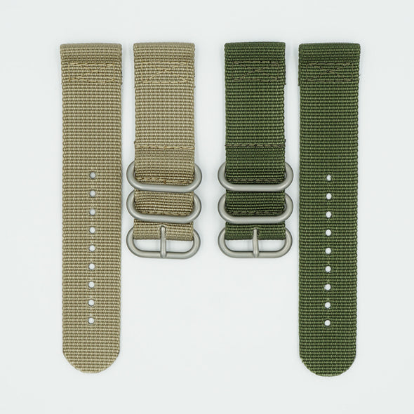 2 Piece Nylon Watch Straps