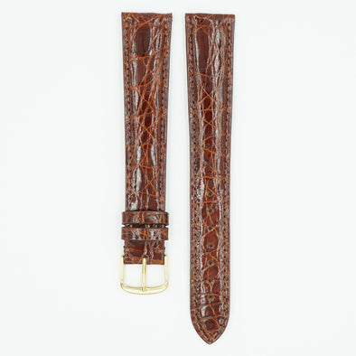 Crocodile Honey Extra Long Leather Watch Strap
