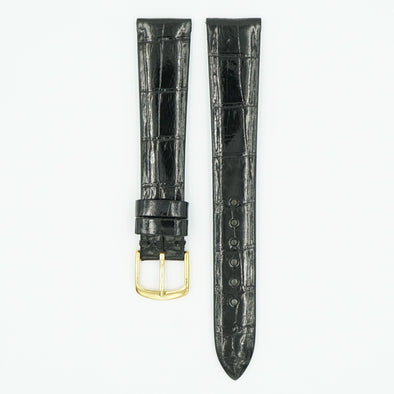 Patek Alligator Black Leather Watch Strap