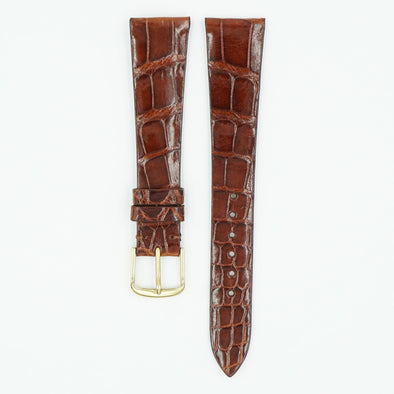 Patek Alligator Chesnut Leather Watch Strap